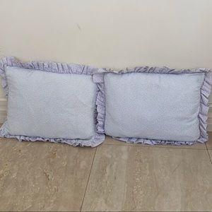 Ditsy Baby Blue Decorative Pillow Set
